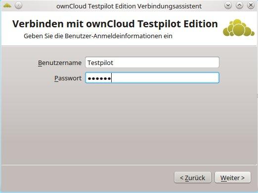 ownCloud Client 2.0: Testpilot Client einrichten