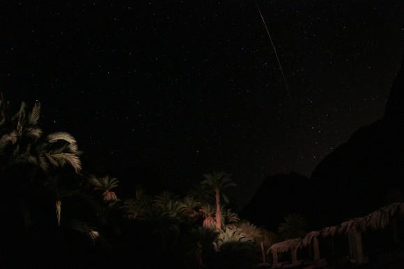 Perseiden: Eingefangene Sternschnuppe