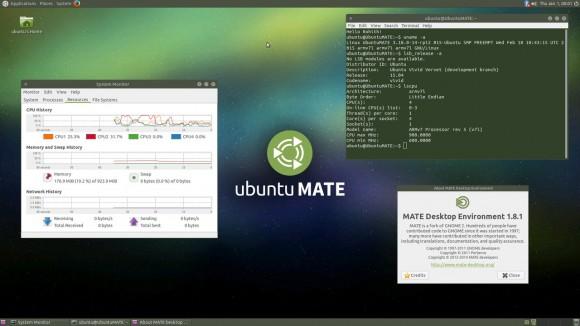Ubuntu 15.04 MATE für Raspberry Pi 2: Läuft auch auf dem Banana Pi (Quelle: ubuntu-mate.org)
