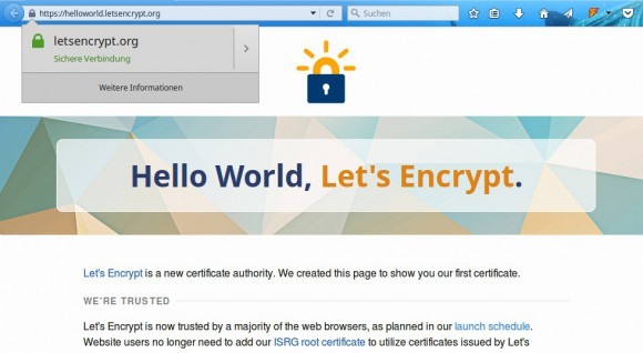 Let's Encrypt: Bald für alle
