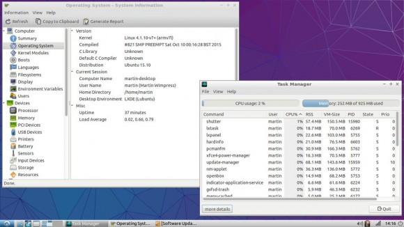 Lubuntu 15.10 auf einem Raspberry Pi 2 (Quelle: twitter.com)