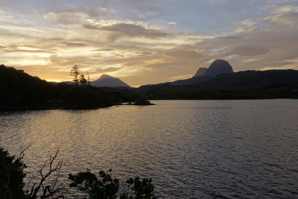 To the Suilven (right hand side) - we started early in the morning