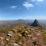 Suilven in Scotland / Highlands – 360° Panorama and the long way to the top