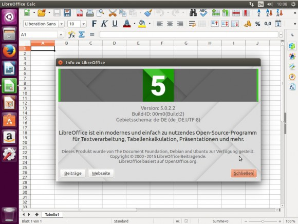 Ubuntu 15.10 LibreOffice 5