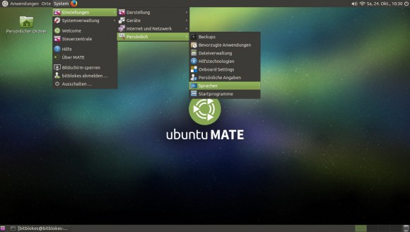 Ubuntu MATE 15.10: Sprachen