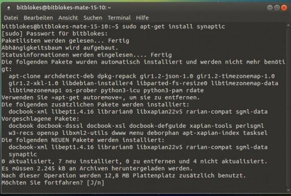 Ubuntu MATE 15.10: Synaptic installieren