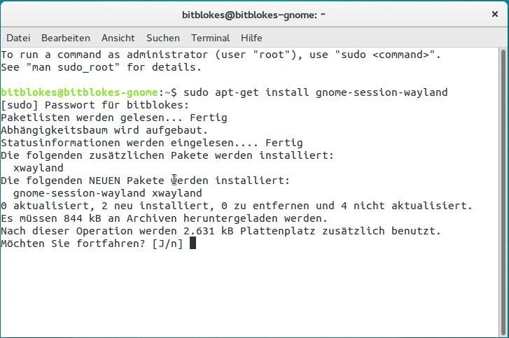 Ubuntu GNOME 15 10 Wily Werewolf mit experimenteller Wayland