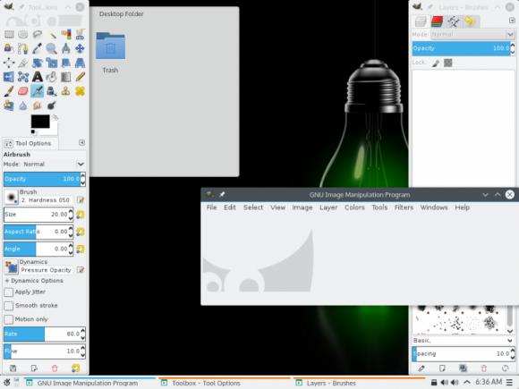 openSUSE Leap 42.1: GIMP unter Plasma 5 (Quelle: opensuse.org)