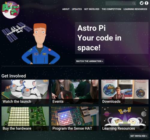 Astro Pi Website (Quelle: rsapberrypi.org)