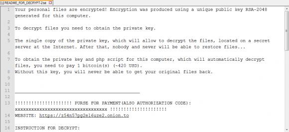 Linux.Encoder.1 und die Forderungen (Quelle: drweb.com)