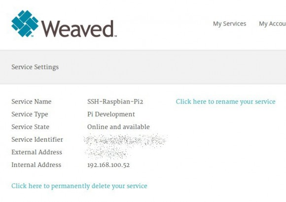 Weaved: Raspberry Pi 2 ist online