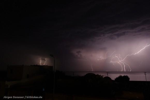 Mega Blitz: Mehrere Blitze in einem Bild