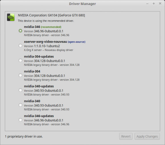Treiber-Manager in Linux Mint 17.3 zeigt, ob Treiber Open Source sind (Quelle: linuxmint.com)