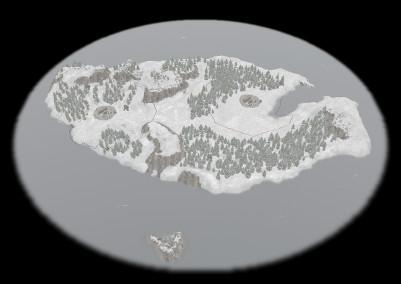 Die nördliche Insel in 0 A.D. Alpha 19 Syllepsis sieht kalt aus (Quelle: wildfiregames.com)