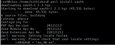 OAuth installieren