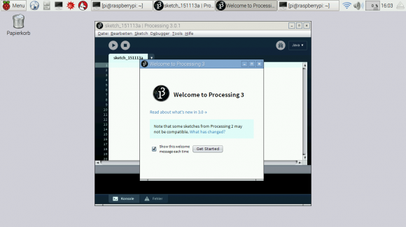 Processing unter Raspbian auf dem Raspberry Pi 2