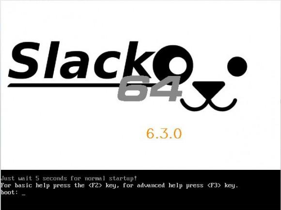 Puppy Linux 6.3 Slacko64: Bootscreen