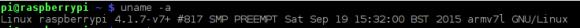 Minibian bringt genau wie Raspbian Jessie Linux-Kernel 4.1.7 mit sich