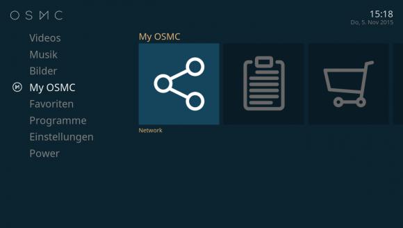 My OSMC: Netzwerk