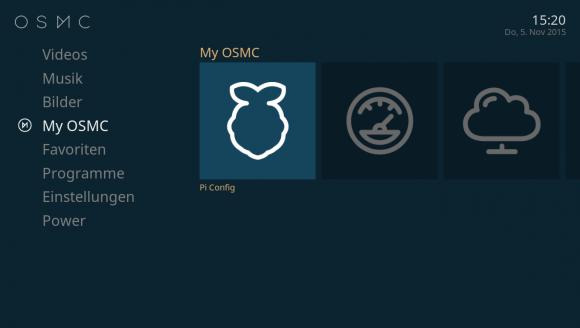 My OSMC: Raspberry Pi 2 konfigurieren