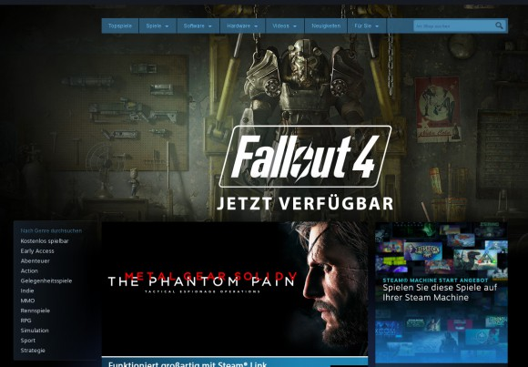 Fallout 4 ist prominenter als Steam Machines