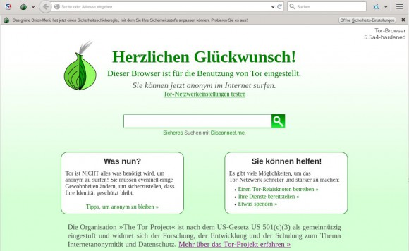 Tor Browser 5.5a4-hardened
