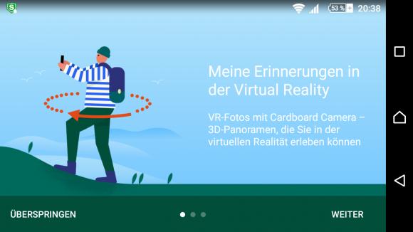 VR-Fotos mit Cardboard Camera ist einfach