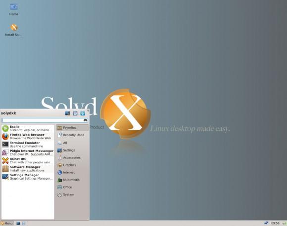 Ein etwas älterer Screenshot von SolydX