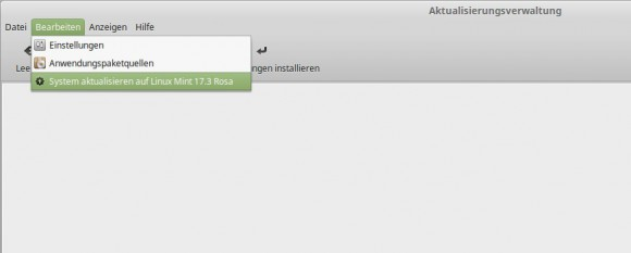 Upgrade auf Linux Mint 17.3 Rosa