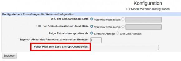 Webmin 1.780 mit Unterstützung für Let's Encrypt