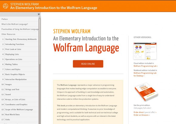An Elementary Introduction to the Wolfram Language ist kostenlos im Web