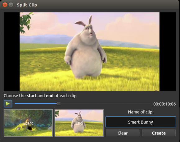 Split Clip in OpenShot 2.0 (Quelle: kickstarter.com)