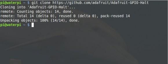 Um Adafruit-GPIO-Halt zu installieren, braucht man Git