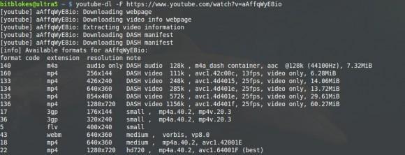 Mit youtube-dl die Optionen bei der Qualität evaluieren - später verbindet man die Teile mit MP4Box