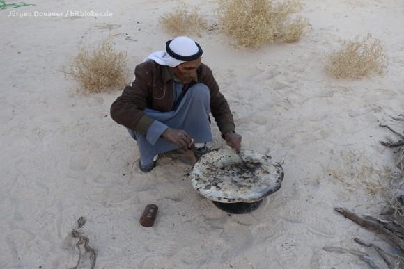 Traditionelles Brot der Beduinen