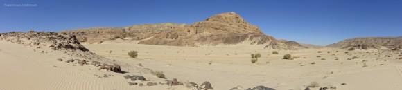 Wüstenlandschaft nahe Wadi Zalaga