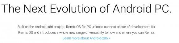 Remix OS basiert auf Android-x86