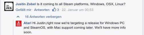 Atari Vault für Linux / SteamOS und WIndows - später für Mac OS X