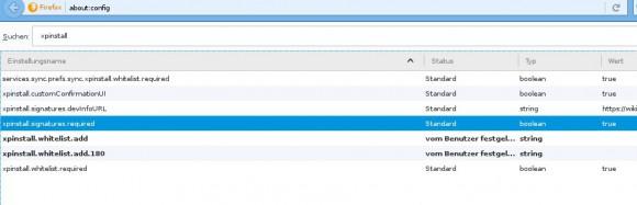 Firefox 44 - Signaturpflicht aufheben