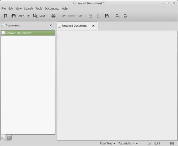 xedit ist eine Software aus den X-Apps (Quelle: linuxmint.com)