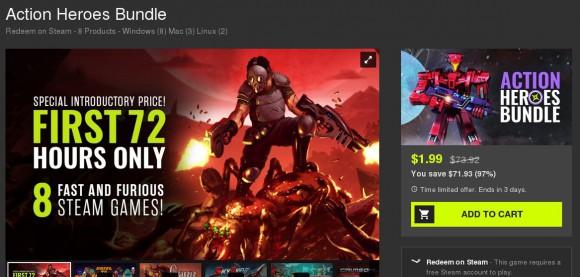 Action Heroes Bundle mit zwei Spielen für Linux