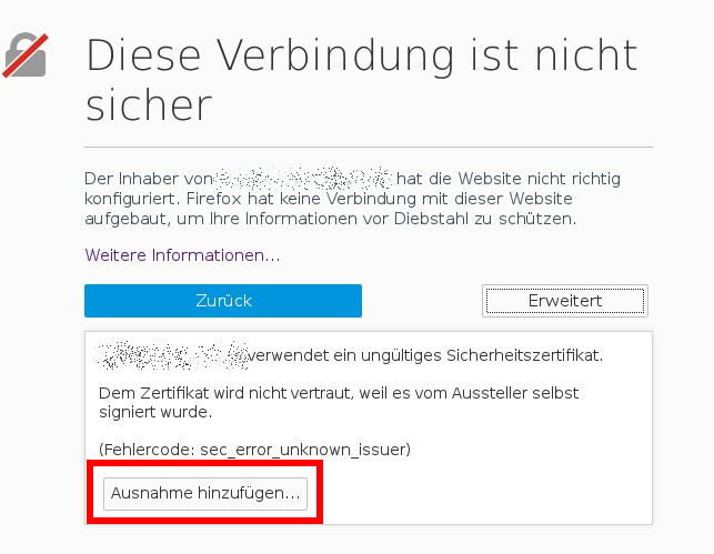 Selbst signiertes Zertifikat in Android / Firefox / Chrome importieren