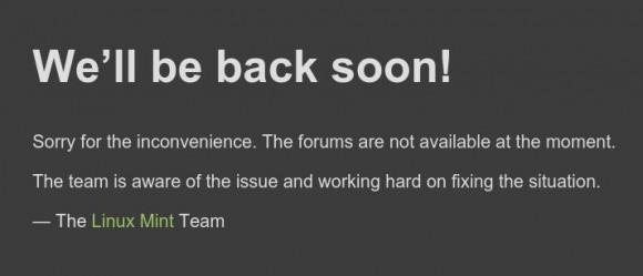 forum.linuxmint.com ist weiterhin offline