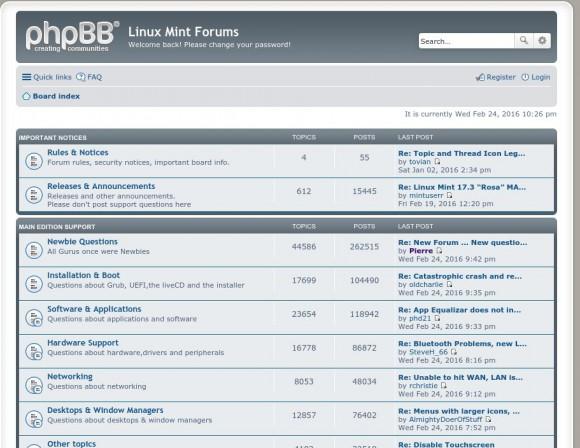 Linux Mint Forum wieder online