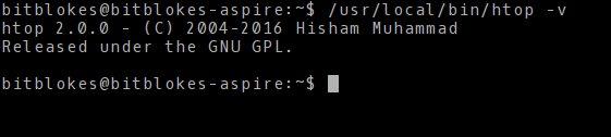 htop 2.0.0 unter Kubuntu 14.04