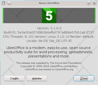 LibreOffice 5.1 ist da
