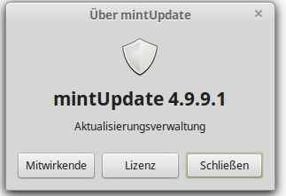 mintUpdate 4.9.9.1 prüft auf TSUNAMI
