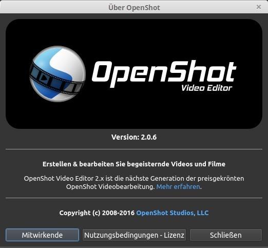 OpenShot 2.0 Beta 3 (2.0.6) unter Linux Mint 17