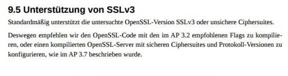 OpenSSL kann SSLv3 - allerdings gilt es als unsicher