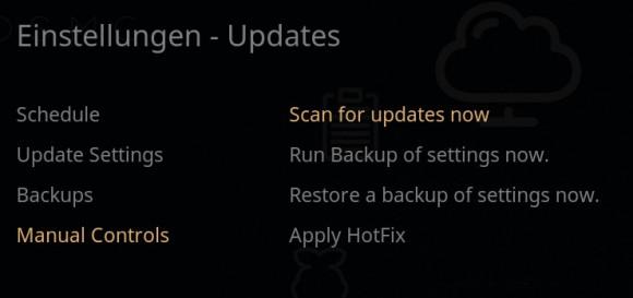 OSMC: Update manuell anstoßen